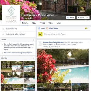 Garden Park Social Media