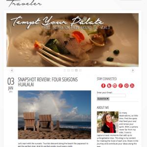 Snapshot Traveler website