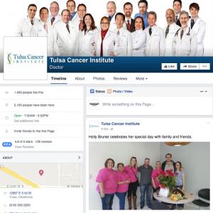 Tulsa Cancer Institute Social Media