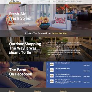 The Farm Shopping Center website