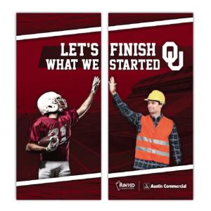 OU/Flintco Tradeshow Graphics