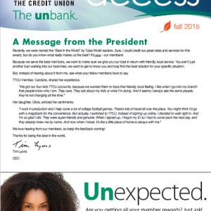 Newsletter design financial institution