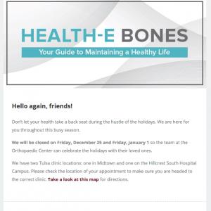 Healthcare e-newsletter design